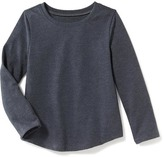 Old Navy Scoop-Neck Curved-Hem Long-Sleeve Tee for Toddler Girls