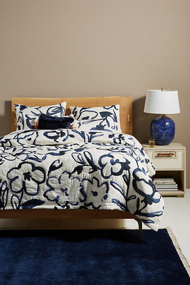 Florentina Quilt By Artisan Quilts by Anthropologie in Black Size FULL