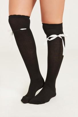 Ardene Ribbon Tie Over the Knee Socks