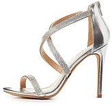 Charlotte Russe Embellished Crisscross Dress Sandals