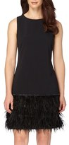 Tahari Petite Women's Embellished Stretch Drop Waist Dress