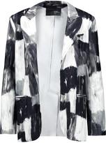 Norma Kamali Printed stretch-cady blazer