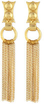 Stephanie Kantis 24k Gold-Dipped Caesar Chain Fringe Earrings