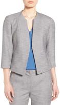 Classiques Entier Collarless Crosshatch Suit Jacket