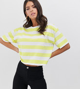 Asos Tall DESIGN Tall oversized boxy t-shirt in neon stripe