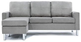 Madison Home USA 74'' Reversible Sofa & Chaise with Ottoman