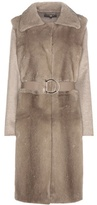 Salvatore Ferragamo Virgin Wool And Cashmere Coat With Mink Fur Vest