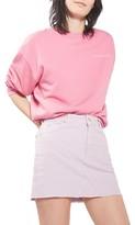 Topshop Women's High Rise Corduroy Miniskirt
