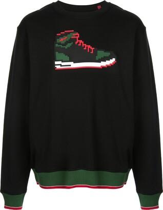 Mostly Heard Rarely Seen 8-Bit Red Sneak sweatshirt