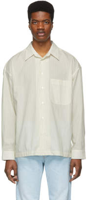Golden Goose Off-White Striped Anthony Shirt