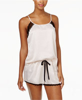 Linea Donatella Lace-Trimmed Satin Cami and Shorts Pajama Set
