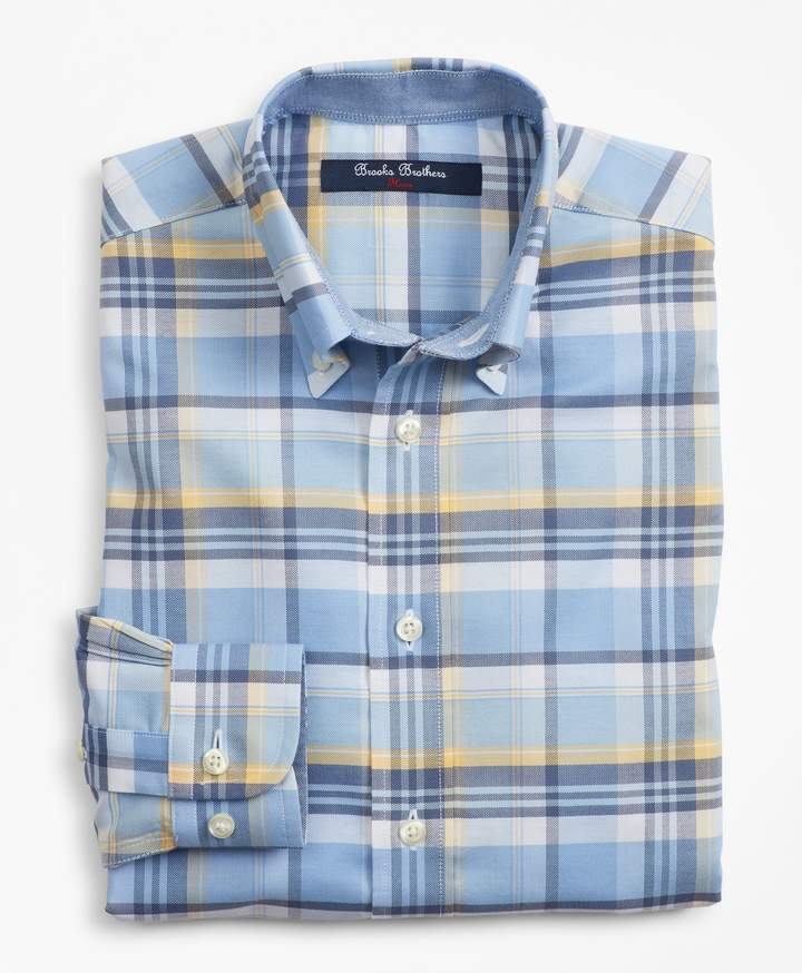 Brooks Brothers Boys Non-Iron Supima Cotton Plaid Sport Shirt