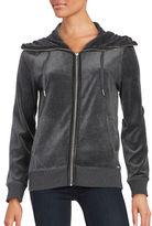 Calvin Klein Velour Zip-Front Jacket