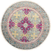 F.J. Kashanian One of a Kind Yves Hand-Knotted Wool Round Rug