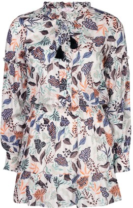 Parker Laura leaf print dress