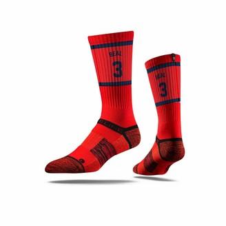 Strideline NBA Washington Wizards Bradley Beal Jersey Premium Athletic Crew Socks One Size