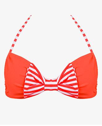 Forever 21 Striped Bow Bikini Top
