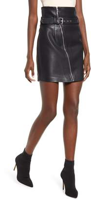 Blank NYC BLANKNYC Belted Faux Leather Miniskirt