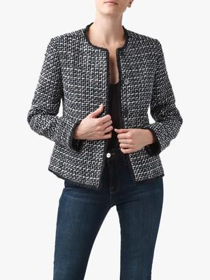 Helene For Denim Wardrobe Judy Tweed Jacket, Navy/White