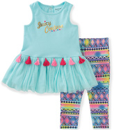 Juicy Couture Pastel Blue Ruffle Tunic & Leggings - Infant