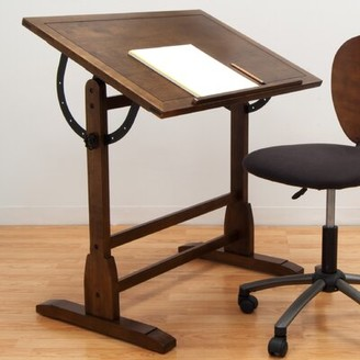"""Studio Designs Solid Wood Drafting Table Size: 36"""" H x 42"""" W x 30"""" D, Color: Rustic Oak"""