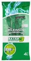 Wilkinson Sword Male Extra 3 Disposable Sensi Razors x 4