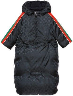 Gucci Baby GG nylon jacket with bunting