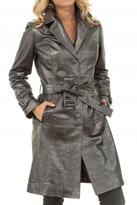 Akhesa Grey Leather Trench