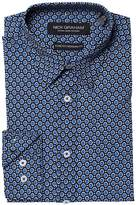 Nick Graham Gem Print Stretch Shirt Men's Long Sleeve Button Up