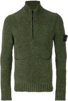 Stone Island roll neck zipped sweater