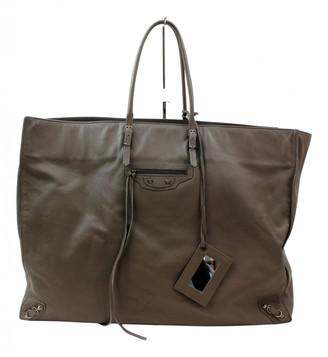 Balenciaga Weekender Brown Leather Travel bags