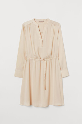 H&M H&M+ V-neck Dress - Beige