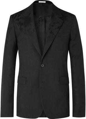 Alexander McQueen Slim-Fit Wool-Jacquard Suit Jacket