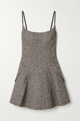 Alexander Wang Tweed Mini Dress - Black