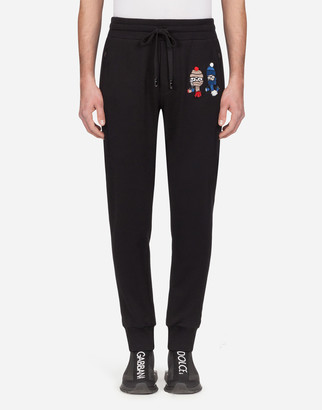 Dolce & Gabbana Jersey Jogging Pants With Family Patch