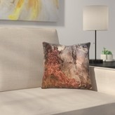 """Luxury and Glitter Gem Agate and Marble Texture Throw Pillow East Urban Home Size: 14"""" x 14"""""""