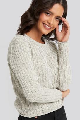 Trendyol Bike Collar Chenille Sweater Grey