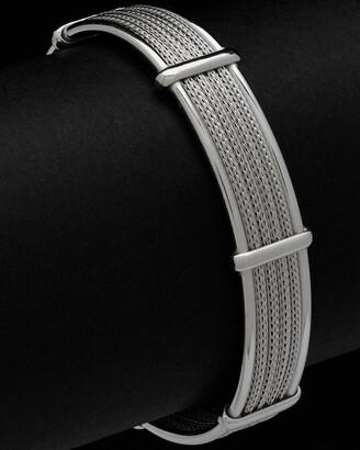 Italian Silver Multi-Strand Weaved Wheat Chain Cuff