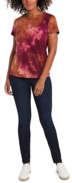 1 STATE Tie-Dye Brushed T-Shirt