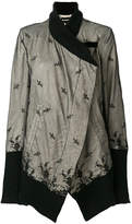 Ann Demeulemeester asymmetric lace detail jacket