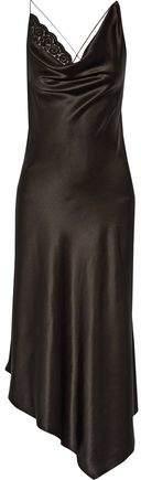 Altuzarra Moonshine Embellished Tulle-Trimmed Asymmetric Stretch-Silk Dress