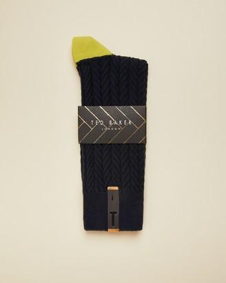 Ted Baker HUTTEN Semi plain cotton socks