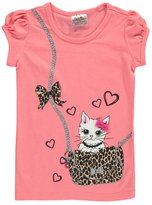 "Beautees Little Girls' ""Kitten on the Go"" T-Shirt"