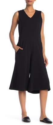 Eileen Fisher Sleeveless Stretch Culotte Jumpsuit
