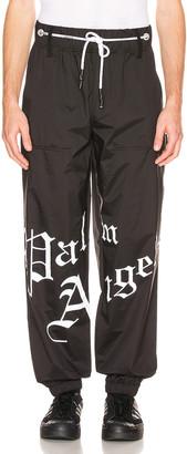 Palm Angels New Gothic Sweatpants in Black & White | FWRD