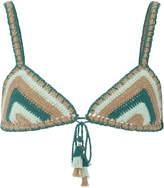 She Made Me Crocheted Triangle Bikini Top