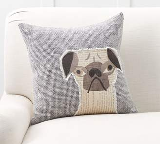 Pottery Barn Rufus Applique Dog Pillow Cover