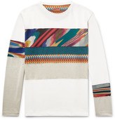 Missoni Mare Space-dyed Panelled Cotton T-shirt - White