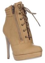 Madden-Girl Hartson Platform Lace-up Ankle Boots, Tan Paris.