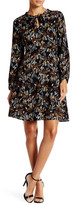 Daniel Rainn Floral Self-Tie Neck Shift Dress (Petite)